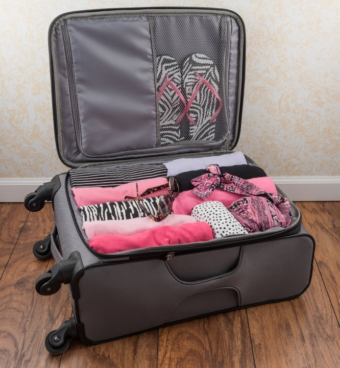 packed suitcase